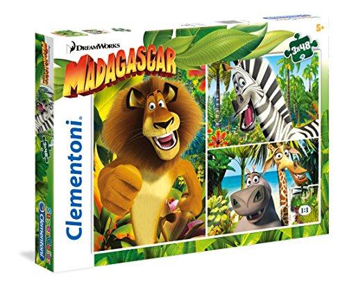 Clementoni 25207 - Madagascar Puzzle, 3x48 Pezzi