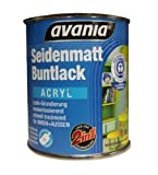 Avania Seidenmatt Buntlack / Acryllack / weiß / 375 ml / 2 in 1 Lack u. Grundierung /...