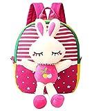 Scheppend Staccabile Bambola Del Fumetto Zainetto Bimba, Zaini per la Scuola (Rosso coniglio)