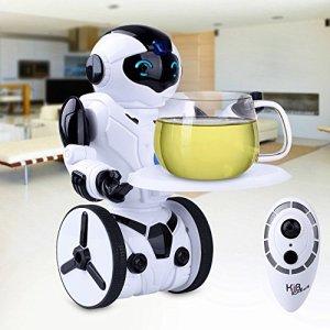 51jeWnnVBtL - Kuman Robot Multifuncional de Control Remoto para Niños 2,4 GHz, Mini Robot Electrónico, 5 Modos de Funcionamiento, Baile, Boxeo, Conducir, Cargar, Detección de Gestos, Súper divertido Robot RC 1016A