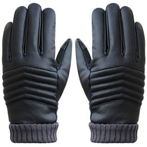 STZHIJIA Hochwertige Männer Thermische Winter Motorrad Sport Leder Touchscreen Handschuhe 3