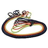 Hundeleine mit Halsband 6mm | Moxonleine Retrieverleine Agilityleine | Mit Zugbegrenzung, Zugstopp aus Hirschhorn (Salamander/Rot), 130 cm)