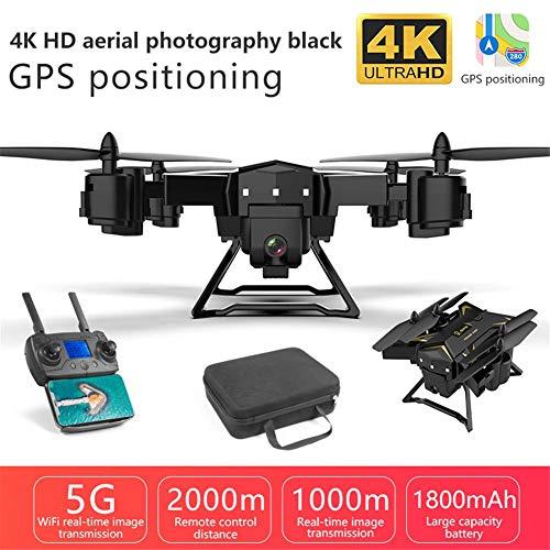 KY601G Pieghevole RC Drone, 6 Canali 2,4 GHz WIFI FPV Drone Con 4k HD Live Video, RC Quadcopter Per Adulti Ed Esperti, One Key Take Off/Landing, Follow Me, Altitude Hold E 5G WiFi Trasmissione