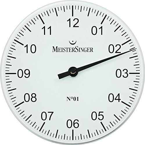 MeisterSinger Pangea WU18 Einzeiger Wanduhr Mit Aufstellbügel