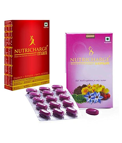 Nutricharge Combo Of Daily Health Suppliment For Men & Women