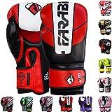 Farabi Boxing Gloves Boxing Gloves for Training Punching Sparring Muay Thai Kickboxing Gloves (Red/Black, 12Oz)
