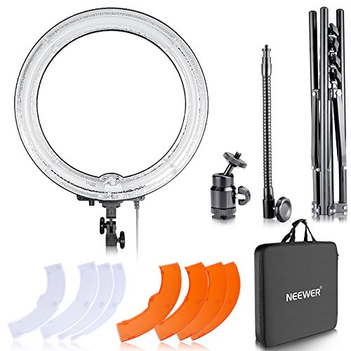 Neewer Dimmerabile 18' 75W (600W equivalente) Studio Fotografico 5500K Anello Flash Fluorescente Kit...