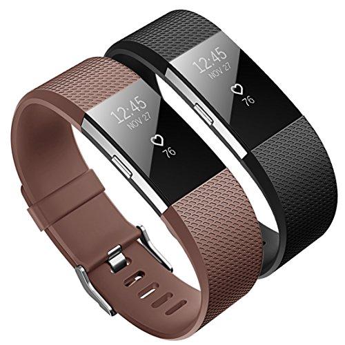 KUTOP per Fitbit Charge 2 Cinturino, Charge2 Edizione Speciale Cinturino Morbido Sportivo di Ricambio in TPE Accessori Regolabile Bands per Fitbit Charge 2 Braccialetto