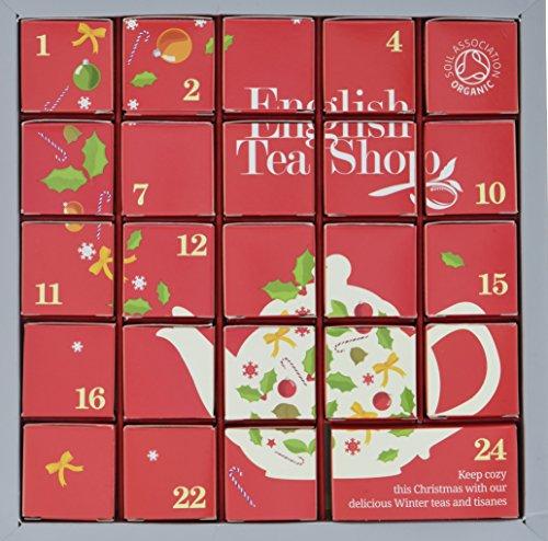 """English Tea Shop - Tee Adventskalender\""""Pink Christmas\"""", 24 einzelne Boxen mit würzigen BIO-Tees in hochwertigen Pyramiden-Teebeutel"""