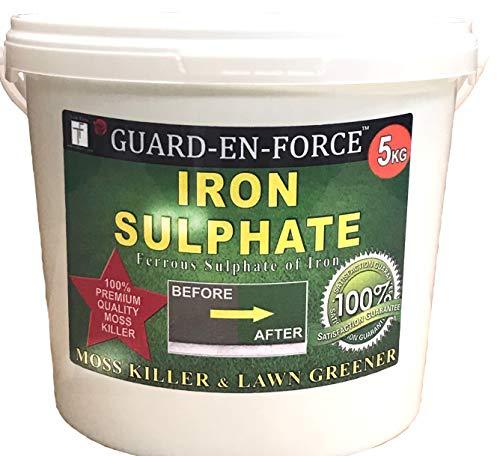 Tradefarmni Iron Sulphate Premium Soluble Fertiliser Moss Killer and Lawn Greener Dry Powder Tub, 5 Kg review