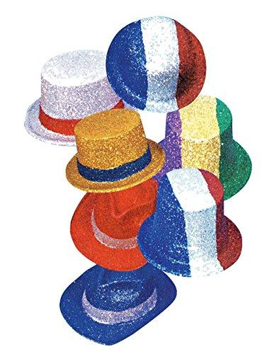 Hola - 5 de septiembre de Color Cilindro Sombreros, Bowler Glitter, Temas y Colores Surtidos