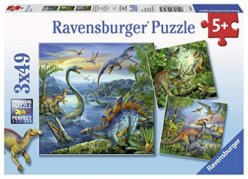 Ravensburger Italy Dinosauri A Puzzle 3x49 Pezzi, 9317