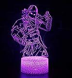 3D Led Lampada da Tavolo, Optical Illusione Ottica Desk luce 7 di notte che Cambiano Colore USB Tabella di tocco della Luce Nottura regali di natale Compleanno per Bambini (Predator)