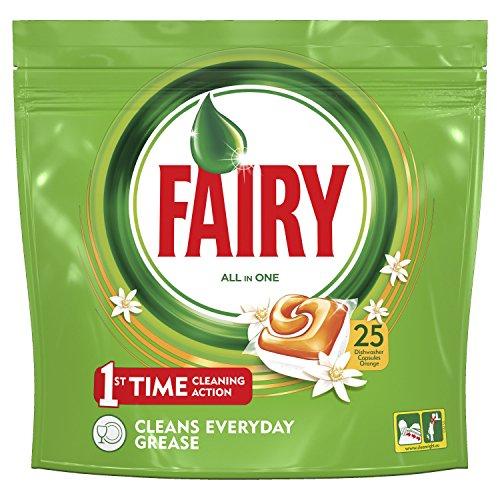 Fairy Tutto in Uno Arancia Detersivo in Caps per Lavastoviglie, Confezione da 25 Pastiglie