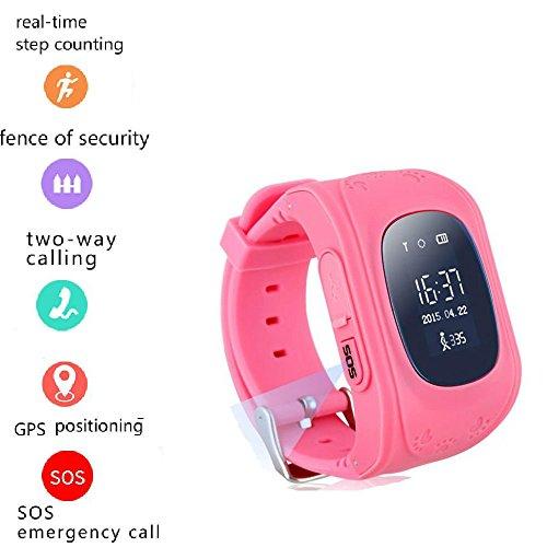 Tkstar bambini Smartwatch Impermeabile GPS Tracker Localizzatore Orologio da polso Telefono SIM...