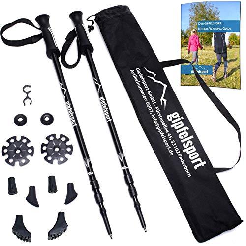 Bastoni per Hiking - Un paio di bastoni da trekking con borsa | Bastoni da camminata allungabili per...