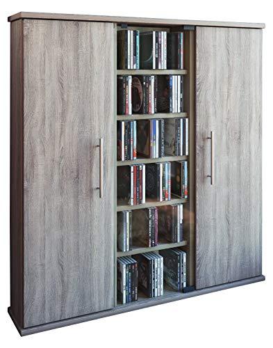 VCM 45029 Santo Torretta CD/Dvd per 450 CD, Rovere-Sonomo, Spazzolato