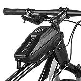 Happyroom Fahrrad Rahmentasche Wasserdicht Fahrrad Handytasche Fahrrad Oberrohrtasche MTB Rahmentasche für iPhone XS Max/8 Plus/7 Plus/Samsung Note8/S9/S10 und andere 6.5 Zoll Smartphone (1L)
