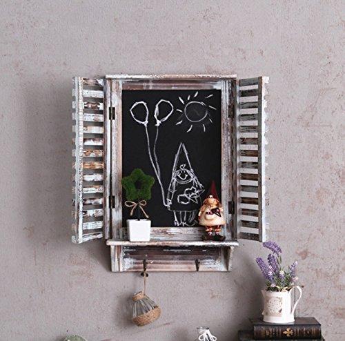 Scaffale a muro stile americano rustico, fare vecchio finestra finto in legno Lavagna appeso a...