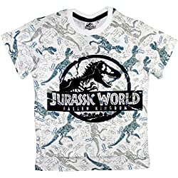 Jurassic World Fallen Kingdom - Camiseta - Niños Blanco Blanco 13 Años
