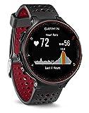 Garmin Forerunner 235 - Reloj con pulsómetro en la muñeca, unisex, color negro y rojo, talla única