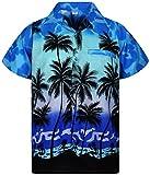 V.H.O Funky Chemise Hawaienne, Beach, Monoblue, 3XL