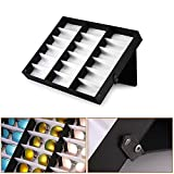 Tioodre monocolo 18 carta occhiali da sole espositore gioielli orologi Storage Grid display stand box case Holder