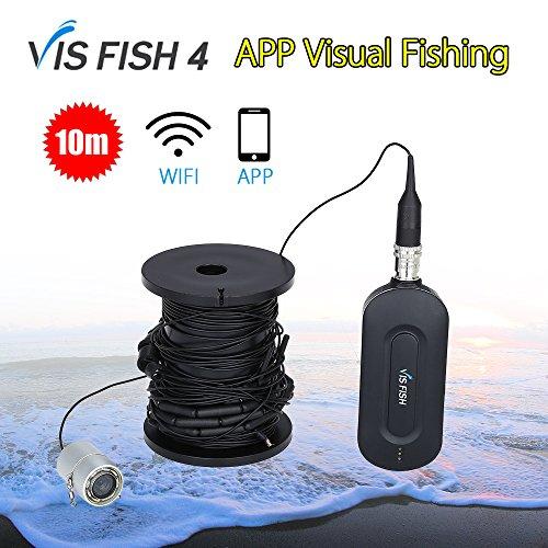 Cutepet Fishfinder Cercatori Dei Pesci 10 M Wireless WIFI Cellulare APP Hd Visual Fish Finder Visione Notturna Telecamera Subacquea Portatile TF-73014