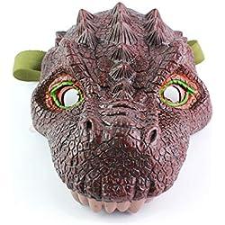 Mayzo Máscara de Dinosaurio Jurassic World, máscara de simulación de Figuras, máscaras de Dinosaurio de látex para Disfraces, máscara de Halloween