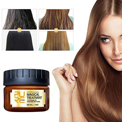 PURC Magical Keratin Haarbehandlungsmaske 60ML mit 2Towels, 5 Sekunden Haarwurzelreparatur, fortschrittliche molekulare Haarwurzelbehandlung Hair Return Bouncy Original