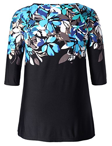 Chicwe Women S Plus Size Floral Top Tunic With Reglan Sleeves 1x 4x