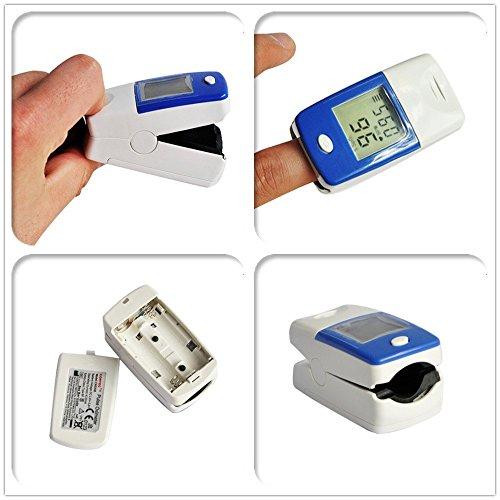 Sellify NEW CONTEC CMS50B LCD OXIMETER FINGER PULSE BLOOD OXYGEN SpO2 MONITOR + CASE
