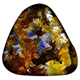 20.08 ct Fancy Shape (22 x 20 mm) Play of Colors Australian Koroit Boulder Opal Natural Loose Gemstone