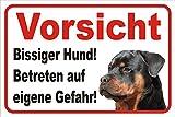 """Warnschild """"Bissiger Hund"""""""