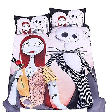 Celo Beddingoutlet Bedding set Nightmare Before Christmas Home Textiles for lovers Sheet Twin Full...