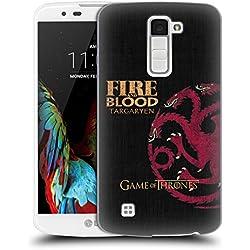 Official HBO Game Of Thrones Targaryen House Mottos Hard Back Case for LG K10 / K10 Dual SIM