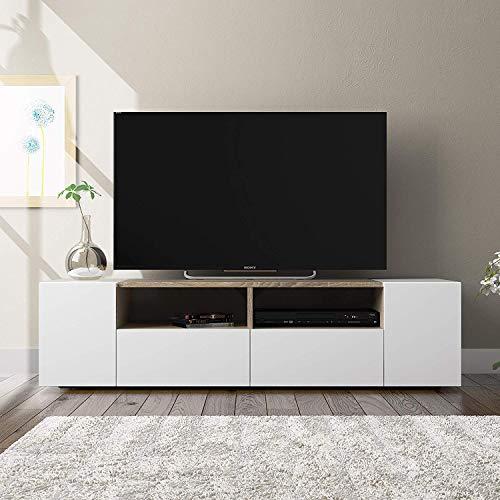 Artik Mobile da TV, Mobile Sala da Pranzo in Legno, Mobile Soggiorno TV con 2 Vani,130 x 34 x 40,2...