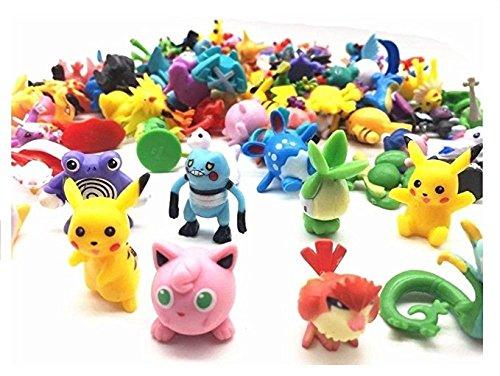Pokemon Colección de figuras de juguete de los personajes del cartón animado como Pikachu, Charmander, Jigglypuff y muchos otros (48 figuras)