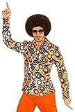 Hemd Siebziger 70er 80er Jahre Verkleidung Herren Schlager Disco Herrenhemd (L/XL, bubbles bunt)