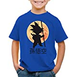style3 Goku Moonlight Camiseta para Niños T-Shirt, Color:Azul;Talla:140