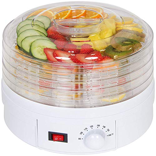 Nirva Digital Food Dryer & Dehydrator - Vegetable & Fruit Dehydrater with Temperature Control & Timer
