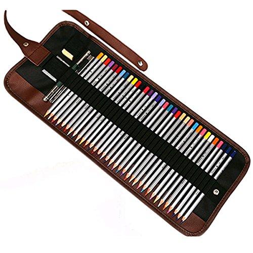 Fablcrew - Astuccio per matite portatile arrotolabile, 36 Slots, L