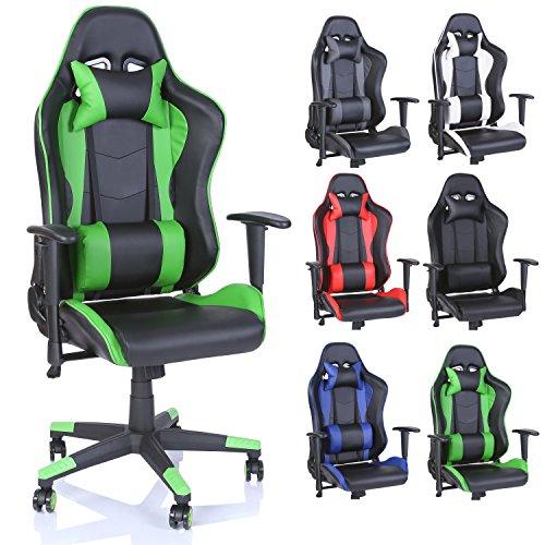 TRESKO Sedia da Ufficio Poltrona Ufficio Versione Racer Gaming 6 Colori Differenti, meccanismo...