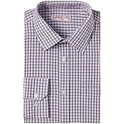 Auburn Hill Men's Formal Shirt (8907002750204_254733600_40_Purple)