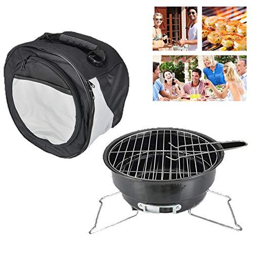 DASGF BBQ Grill, Ice Bag Mini Grill, Acciaio Inossidabile Carboncino Barbecue Grill per Camper,...