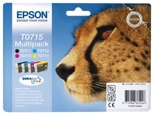 Epson T071 Serie Ghepardo, Cartuccia originale getto d'inchiostro DURABrite Ultra, Formato Standard,...