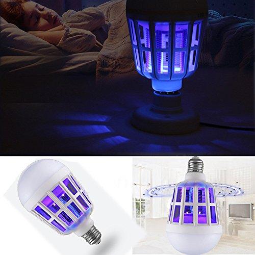NUOVA Lampadina Anti-zanzara a LED, Mecohe 15W 1000LM 6500K Elettronico Mosca Insetto Fly Bug...