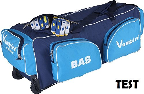 BAS Vampire CE Test Cricket Kit Bag with Wheel (Colour May Vary)