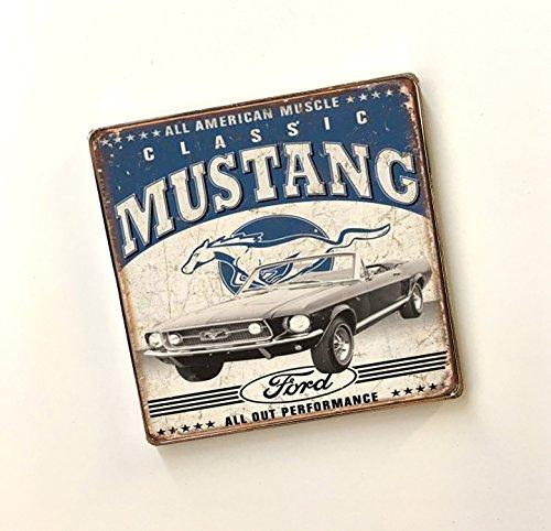 Classic Cars Automotive Kraftstoff Neuheit Mechaniker Edelstahl Kühlschrank Magnete, Metall, G - Classic Mustang