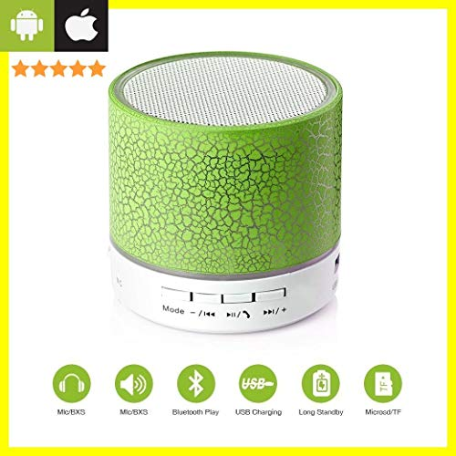 Priish® Wireless LED Bluetooth Speakers Wireless S10 Handfree with Calling Functions & FM Radio Portable Speaker with Mic Design Built-in Mic for All Smartphone iOS Android Windows iPhone Smartphones FM Radio (2 Years Warranty)